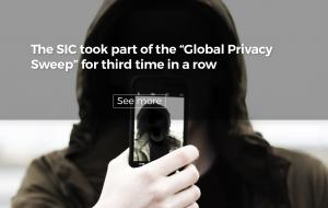 "The SIC took part of the ""Global Privacy Sweep"" for third time in a row"