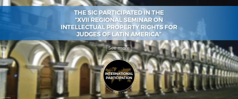 """The SIC participated in the """"XVII Regional Seminar on Intellectual Property Rights for Judges of Latin America"""""""