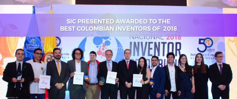 SIC presented awarded to The Best Colombian Inventors of  2018