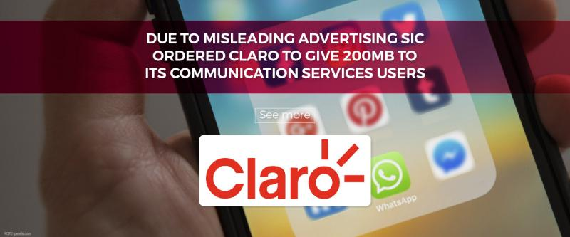 Due to misleading advertising SIC ordered Claro to give 200mb to its communication services users